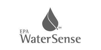 Photo of EPA WaterSense logo in black and white.