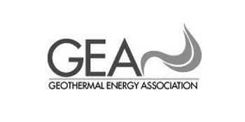 Photo of GEA logo in black and white.