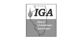 Photo of IGA logo in black and white.