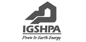 Photo of International Ground Source Heat Pump Association logo in black and white.