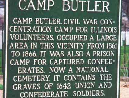 Photo of Camp Butler National Cemetery sign.